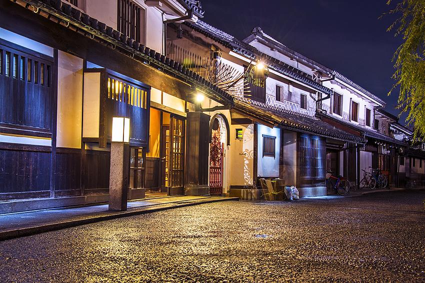 岡山県倉敷には江戸の風情が残されている。