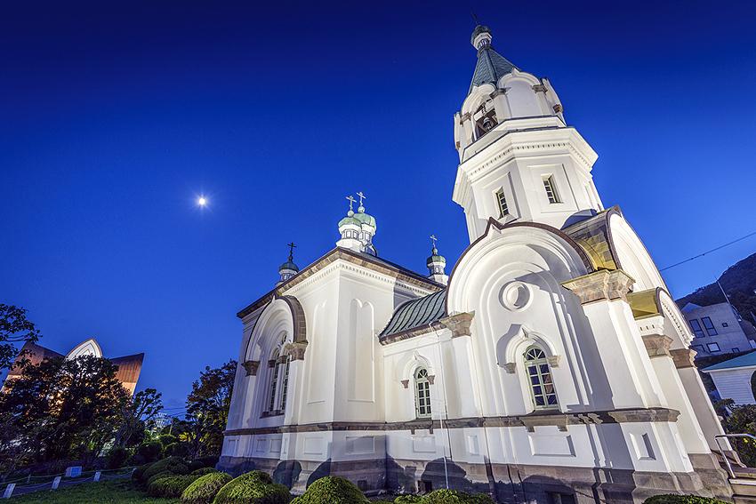 函館のハリストス正教会。かっこいいなぁ。