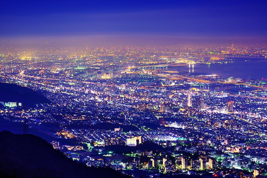 六甲山から眺める神戸