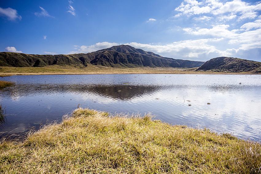 山上にある美しい湖
