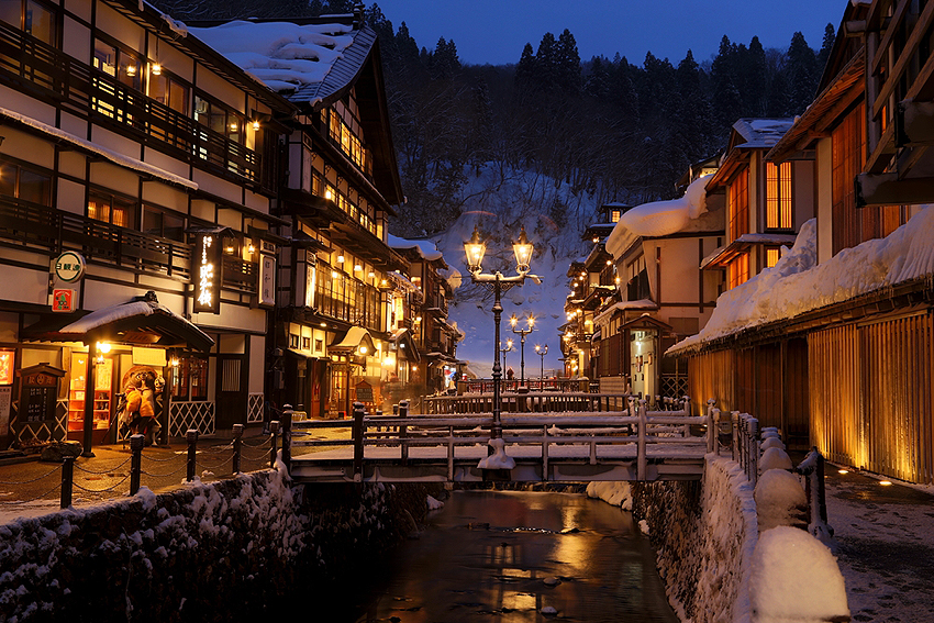 銀山温泉の美しい景観は格別だ