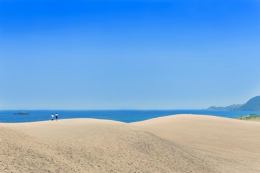 広範囲で広がる砂丘