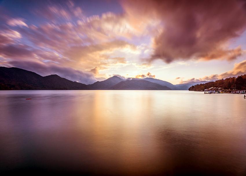 中禅寺湖の夕焼け